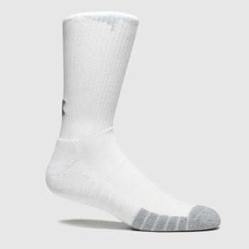 Under Armour White Heatgear Crew Socks