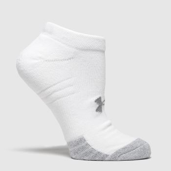 Under Armour White Heatgear No Show Socks