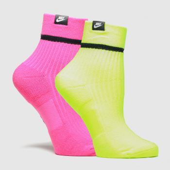 accessories nike pink snkr sox 2pk