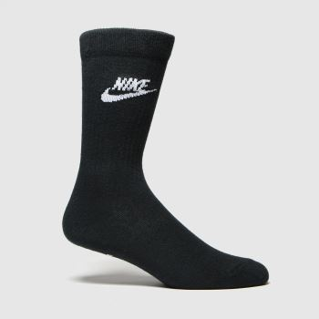 Nike Black & White Essential Socks 3pk c2namevalue::Socks