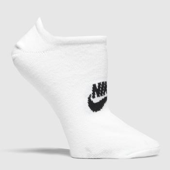 Nike White & Black Everyday Essential Socks