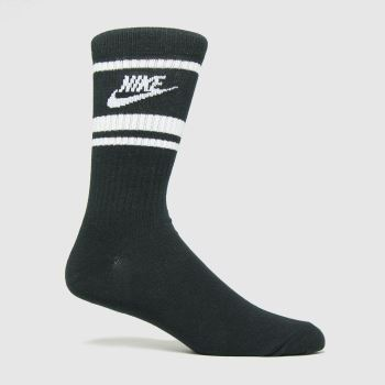 Nike Black & White Sportswear Essential 3pk Socks