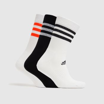 adidas Multi Cushioned Crew 3pk Socks