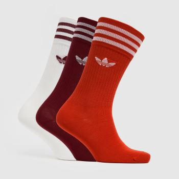 adidas Multi Solid Crew 3pk Socks