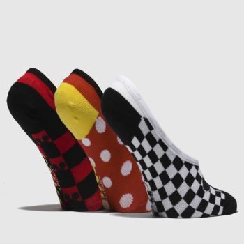 Vans Red & Black MICKEYS 90TH CANOODLES Socks