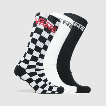 Vans Black & White Classic Crew 3pk c2namevalue::Socks