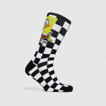 Vans Black & White Spongebob Crew 1pk Socks