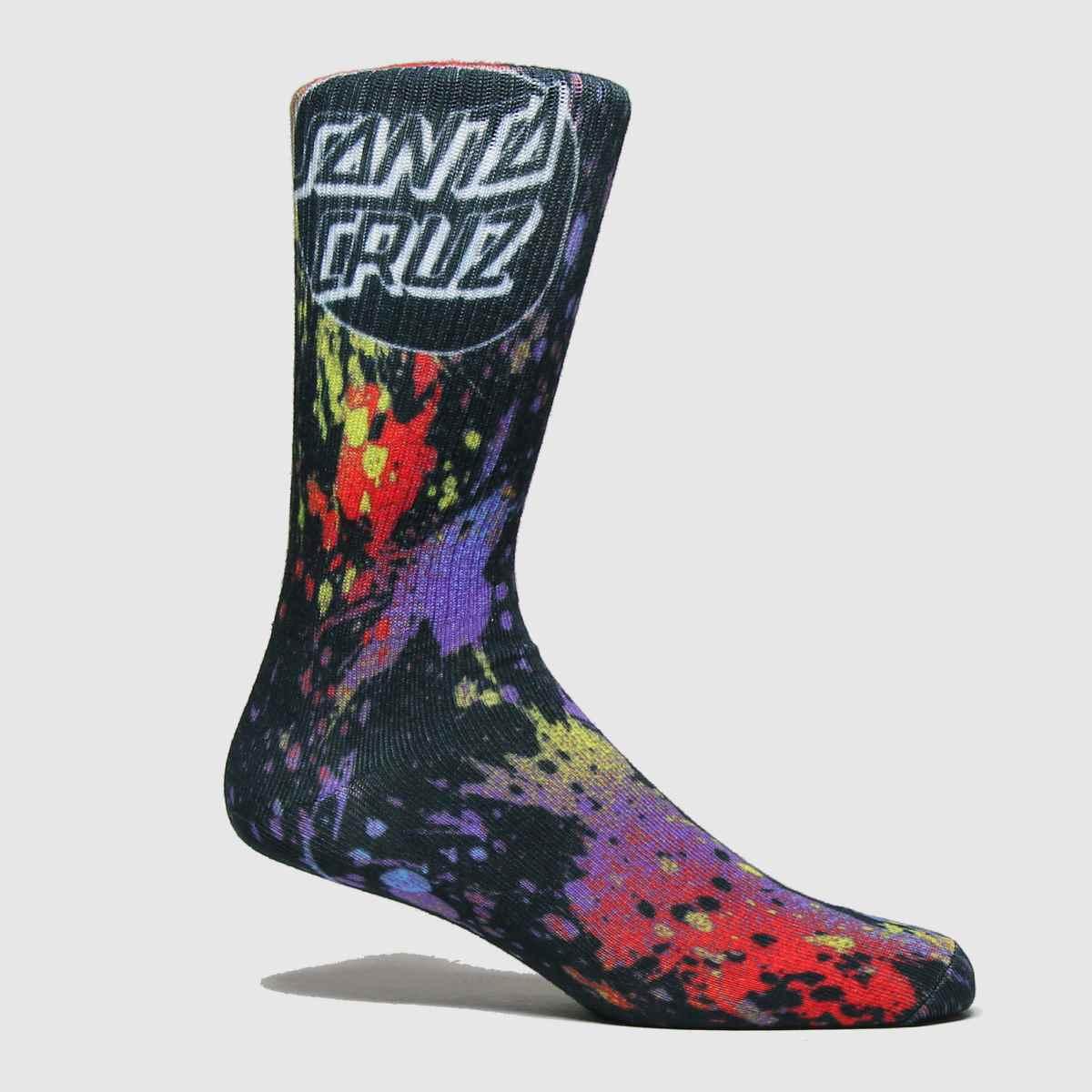Santa Cruz Accessories Santa Cruz Multi Splatter Sock 1pk