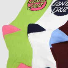 Santa Cruz Pop Dot Sock 3pk 1