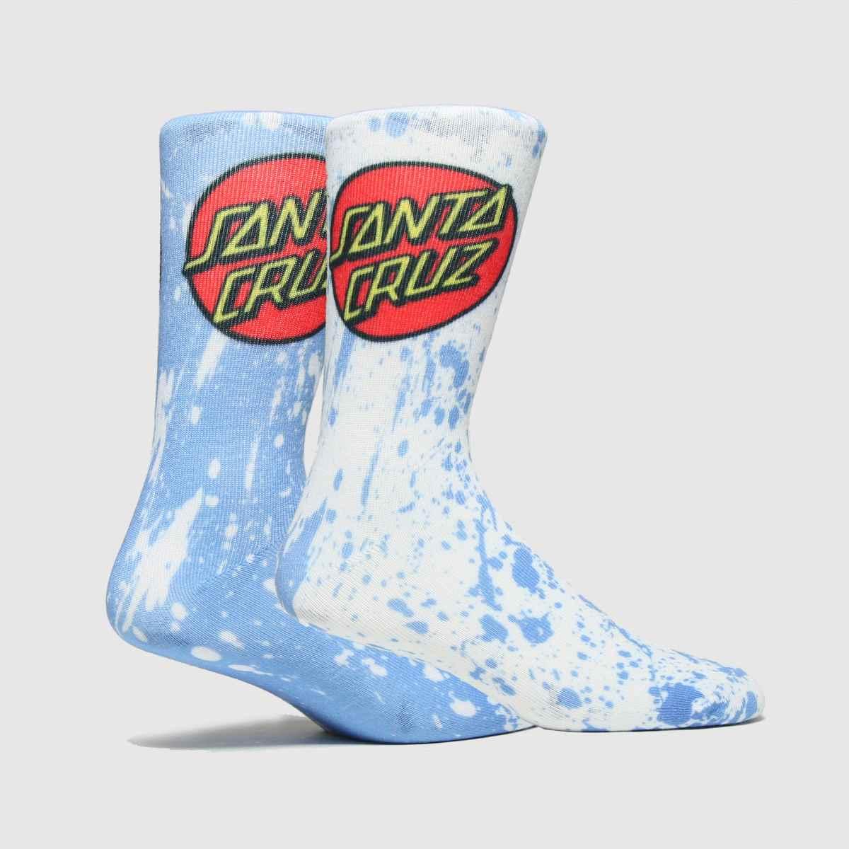 Santa Cruz Accessories Santa Cruz White & Pl Blue Kit Sock 2pk