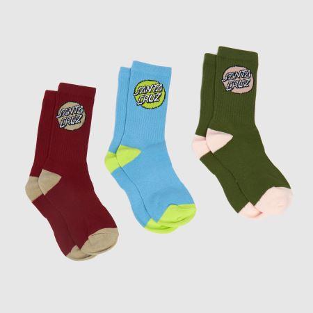 Santa Cruz Pop Dot Socks 3pktitle=