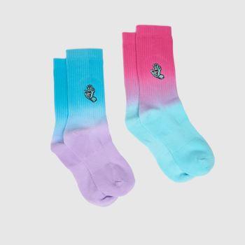 Santa Cruz Multi Mini Hand 2pk Socks
