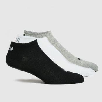 PUMA Multi Unisex Trainer Liner 3pk Socks