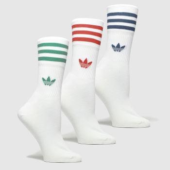 accessories adidas white mid cut crew 3pk