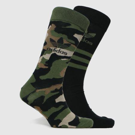 adidas Camo Crew Sock 2pktitle=