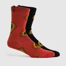 Santa Cruz Sunflower Sock 2pk,1 of 4