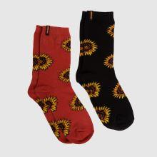Santa Cruz Sunflower Sock 2pk,2 of 4