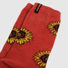 Santa Cruz Sunflower Sock 2pk,3 of 4