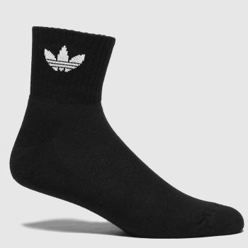 adidas Black & White Mid Ankle Sock 3pk Socks