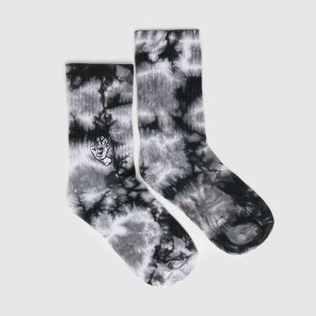 Santa Cruz Black & White Mini Mono Hand Tie Dye Socks