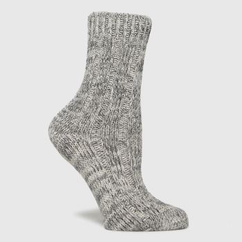BIRKENSTOCK Grey Cotton Twist Socks
