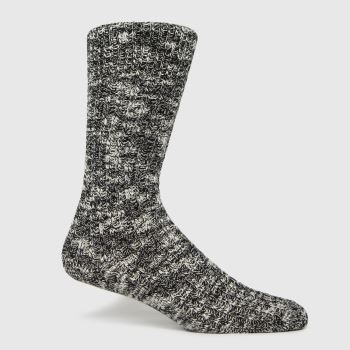BIRKENSTOCK Black & Grey Cotton Slub Socks