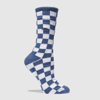 ACCESSORIES VANS NAVY & WHITE CHECKERBOARD II CREW