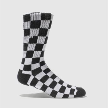 Vans Black & White Checkerboard Ii Crew 1pk Socks
