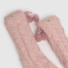 UGG Pom Pom Fleece Crew Sock,3 of 4