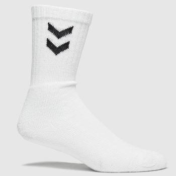 hummel White & Black Basic Sock 3pk Socks