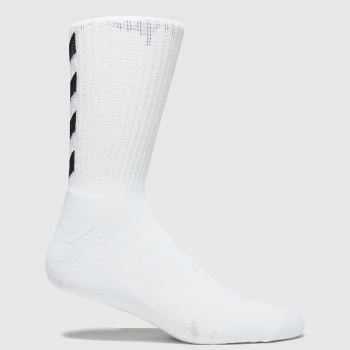 hummel White & Black Fundamental 3pk Socks