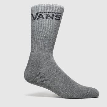 Vans Grey Classic Crew 3 Pk Socks