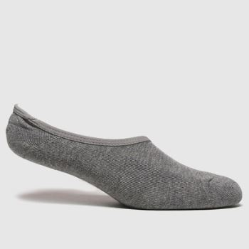 Vans Grey Classic Super No Show 3pk Socks