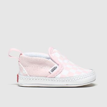 Vans White & Pink Slip-on V c2namevalue::Girls Baby