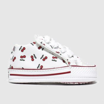 Converse White & Red Cribster Fruits Girls Baby