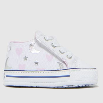 Converse White & Pink Cribster Make A Wish Girls Baby