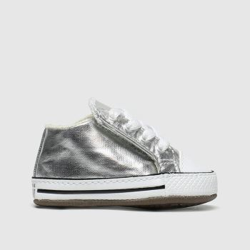 Converse Silver All Star Cribster Girls Baby