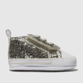 Converse Gold 1St Star Easy Slip Glitter Girls Baby