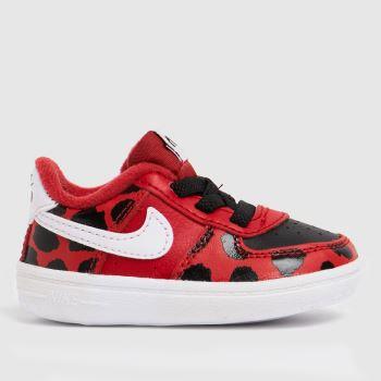 Nike Red Air Force 1 Se Crib Girls Baby