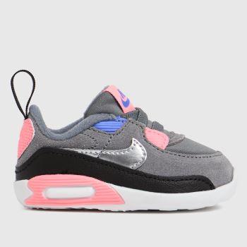Nike Grey Max 90 Crib Girls Baby