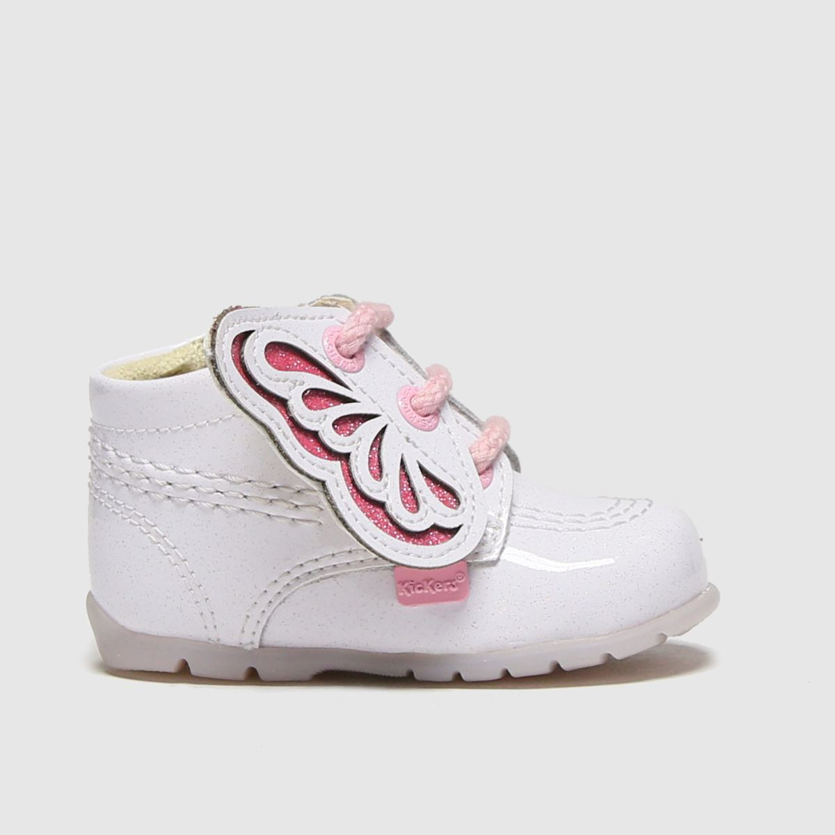 Kickers White & Pink Faeries Mini Crib Shoes Baby