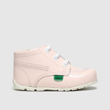 Kickers Pale Pink Hi B Zip c2namevalue::Girls Baby