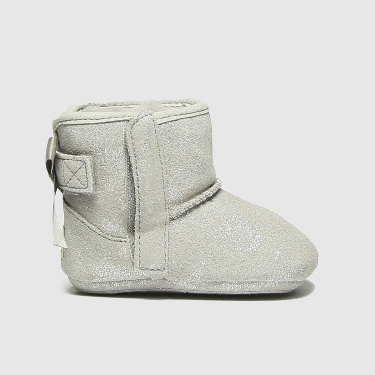 UGG Silver Jesse Bow Ii Shimmer Crib Shoes Baby