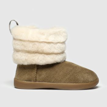 UGG Tan Fluff Mini Quilted Girls Toddler