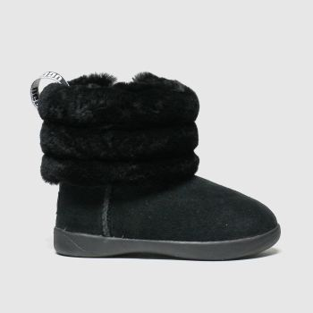 Ugg Black Fluff Mini Quilted Girls Toddler