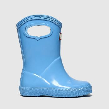 hunter pale blue first classic pull-on boots toddler