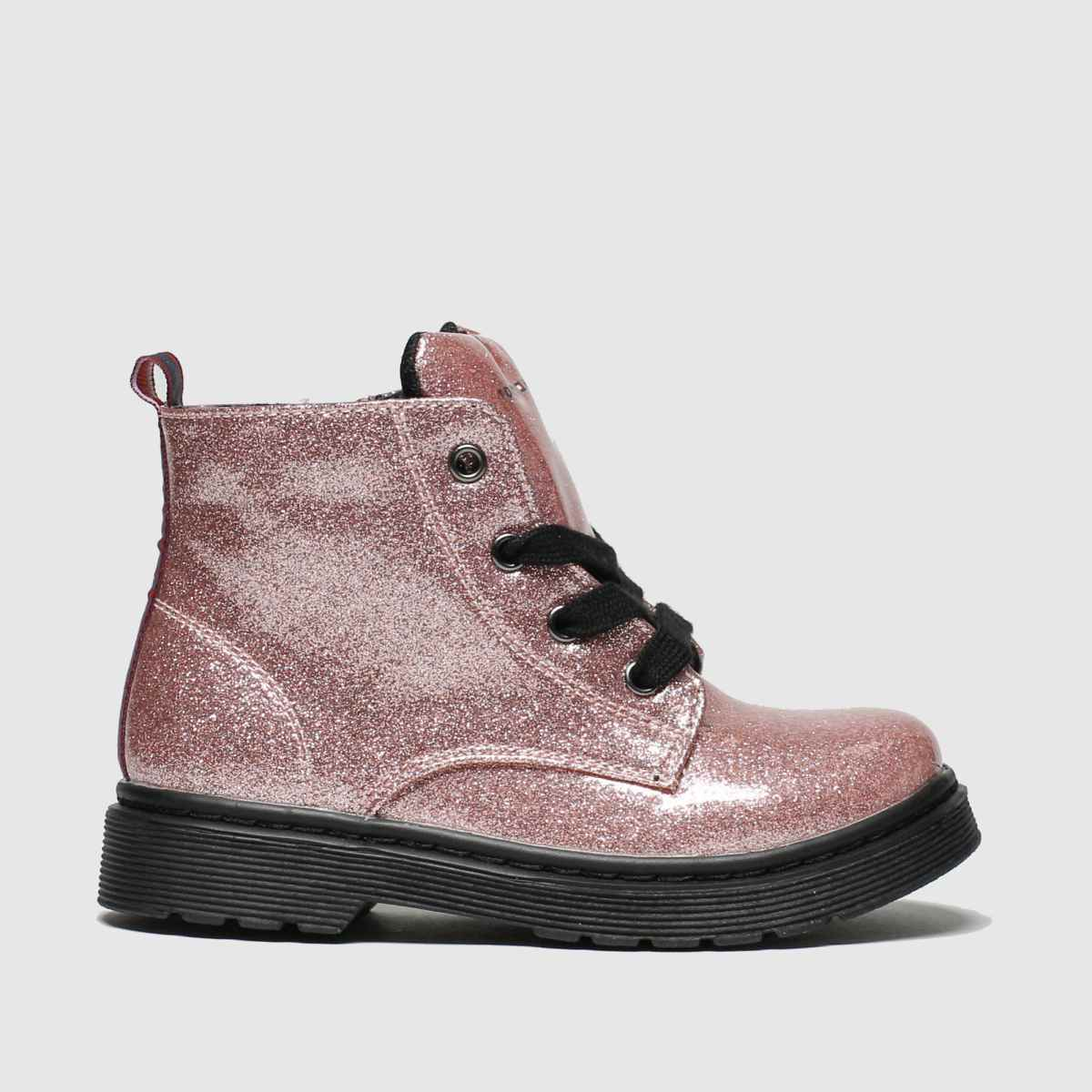Tommy Hilfiger Pink Lace Up Bootie Boots Toddler