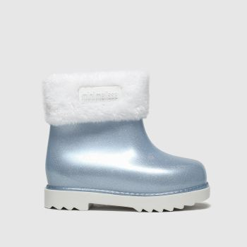 Melissa White & Pl Blue Winter Boot Girls Toddler