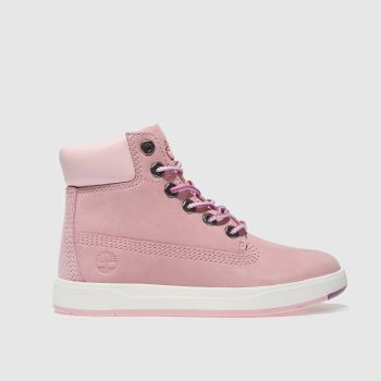 Timberland Pale Pink DAVIS SQUARE 6 INCH Girls Toddler