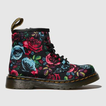 Dr Martens Black & Red 1460 Rose Girls Toddler